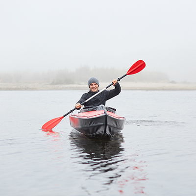 therapy journey on the water in a kayak